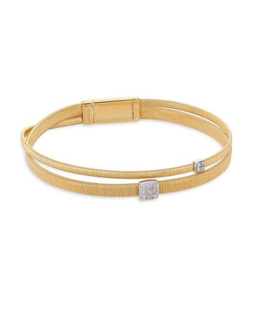 Marco Bicego - Metallic Masai Diamond Station & 18k Yellow Gold Bracelet - Lyst