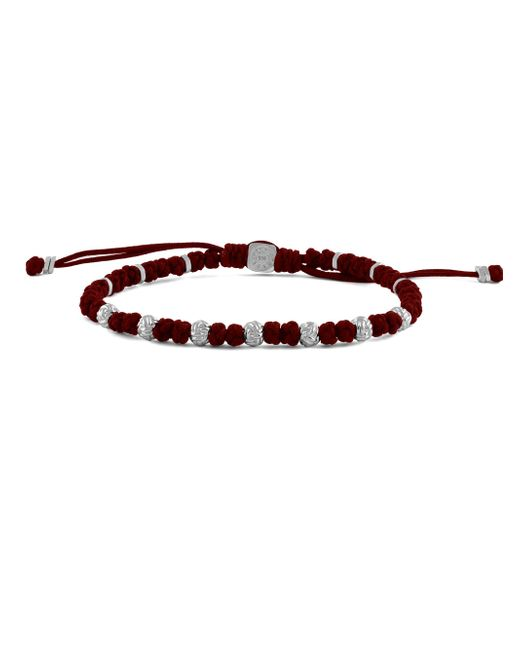 Tateossian - Red Braided Button Knot Bracelet for Men - Lyst