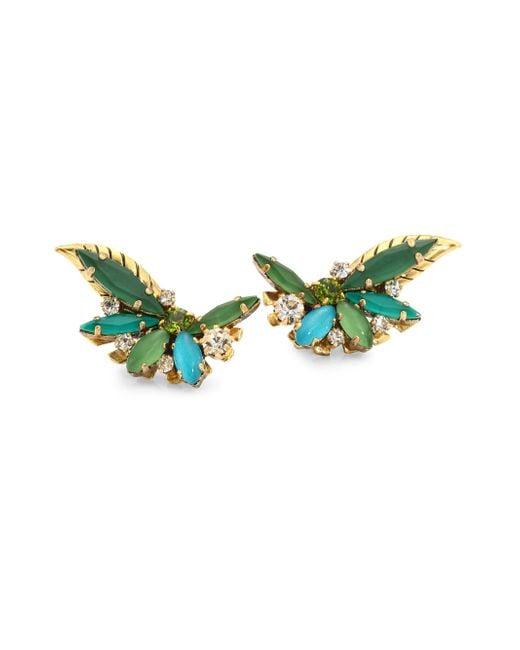Erickson Beamon - Green Emerald City Crystal Stud Earrings - Lyst