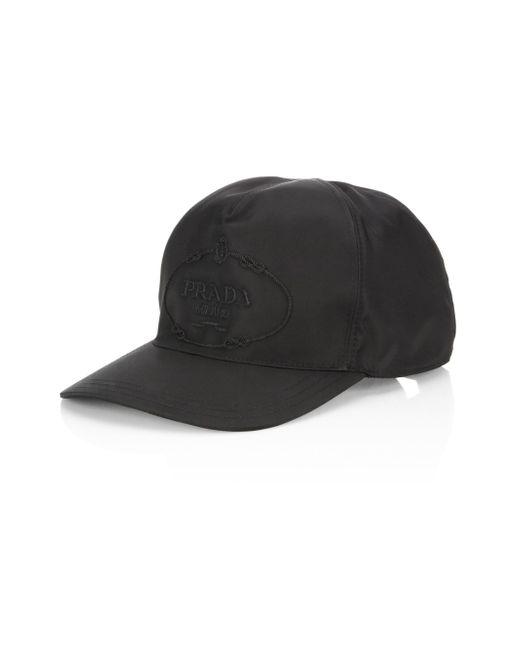 Prada - Black Signature Baseball Cap for Men - Lyst