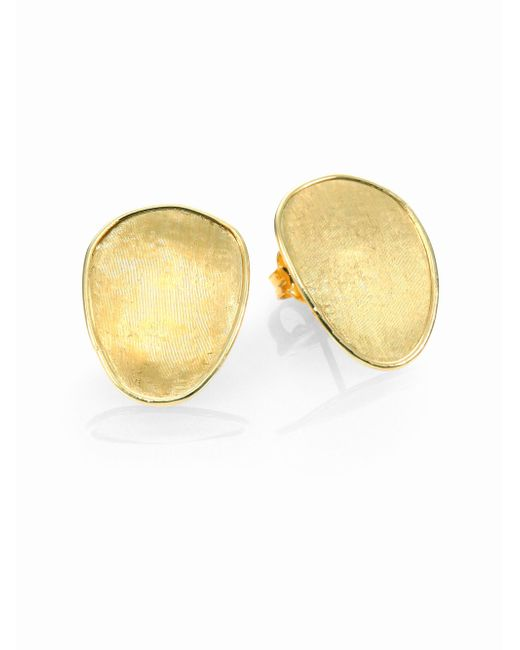 Marco Bicego - Metallic Lunaria 18k Yellow Gold Small Button Earrings - Lyst