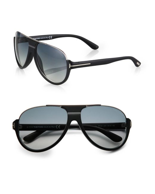 Tom Ford Black Dimitry Retro Sunglasses for men