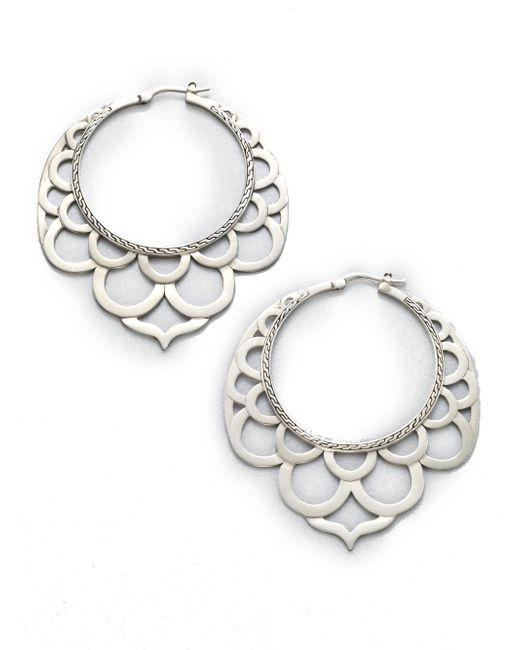 John Hardy - Metallic Naga Sterling Silver Large Lace Hoop Earrings/2.2 - Lyst