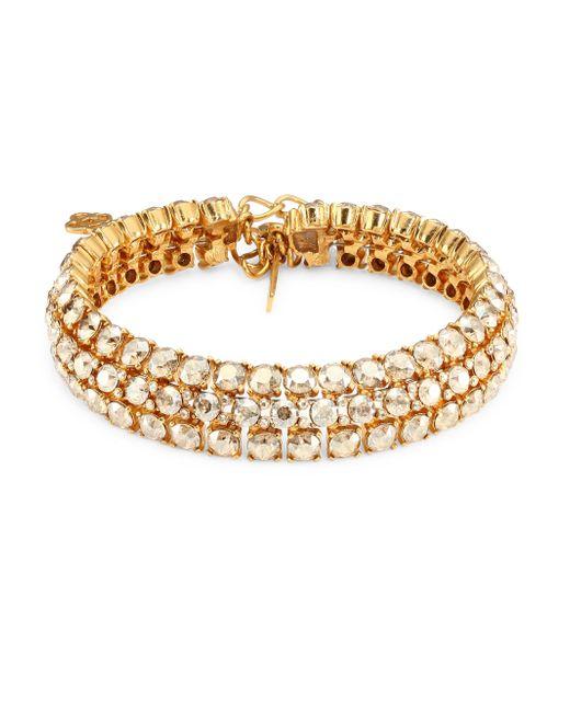 Oscar de la Renta - Metallic Crystal Cluster Stacked Necklace - Lyst