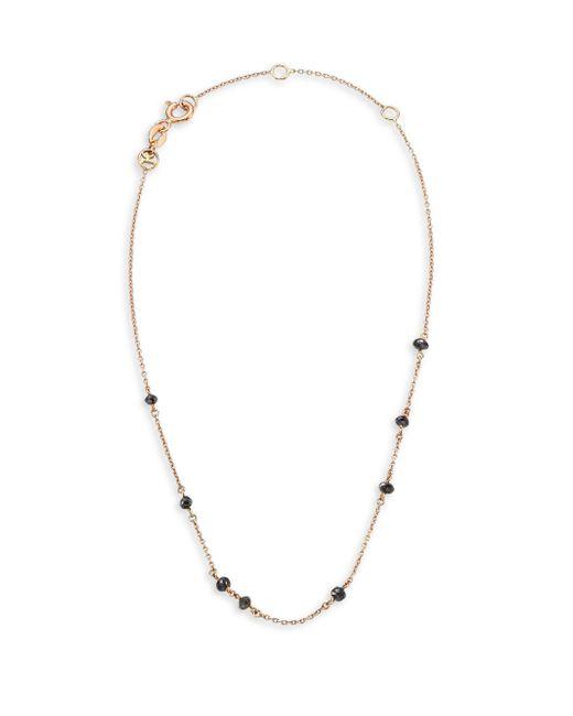 Kismet by Milka - Metallic Black Diamond & 14k Rose Gold Anklet - Lyst