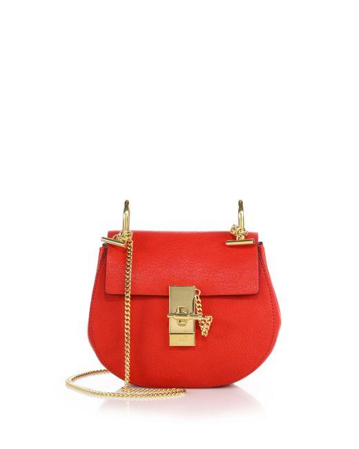 Chloé - Red Drew Mini Leather Shoulder Bag - Lyst
