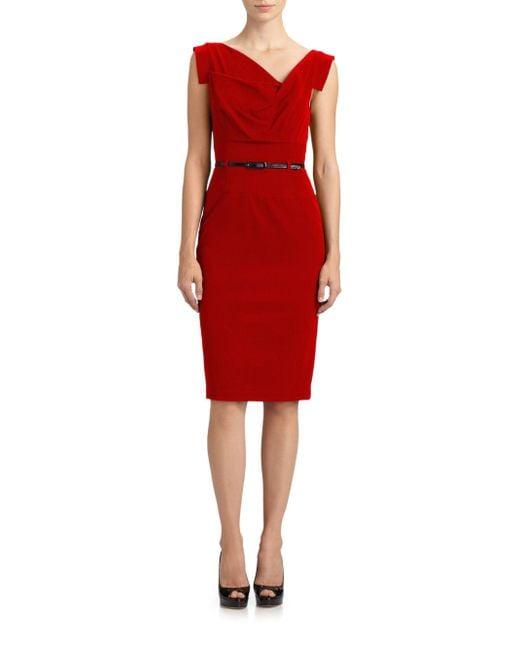 Black Halo - Red Jackie O. Dress - Lyst