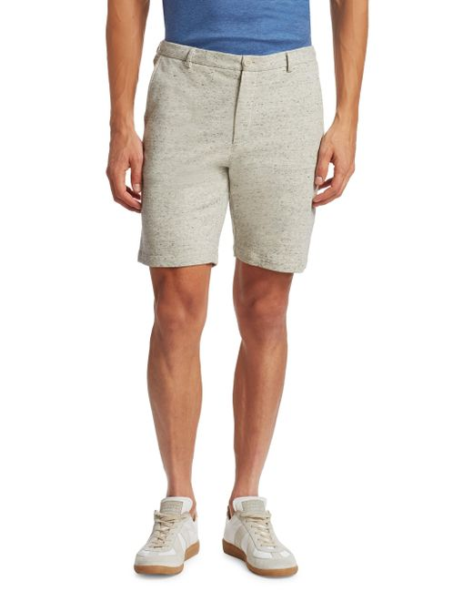 Saks Fifth Avenue | White Modern Heather Modern-fit Cotton Shorts for Men | Lyst