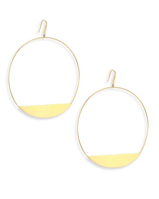 Lana Jewelry - Metallic Bond 14k Yellow Gold Xl Eclipse Earrings - Lyst