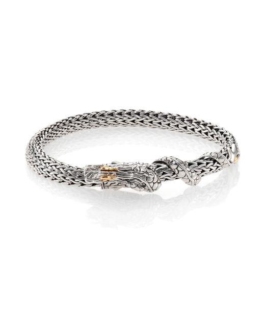 John Hardy   Metallic Naga 18k Yellow Gold & Sterling Silver Chain Bracelet   Lyst