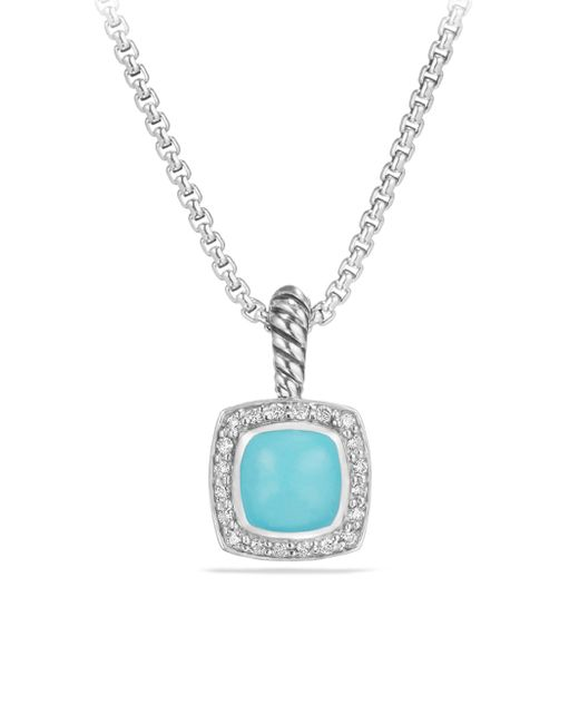 David Yurman - Blue Petite Albion Green Onyx & Diamond Pendant Necklace - Lyst