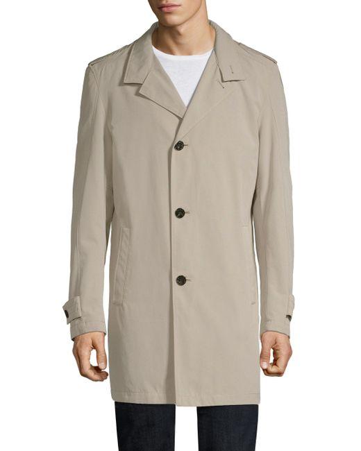 Strellson - Natural Slim-fit Sonik Trench Coat for Men - Lyst