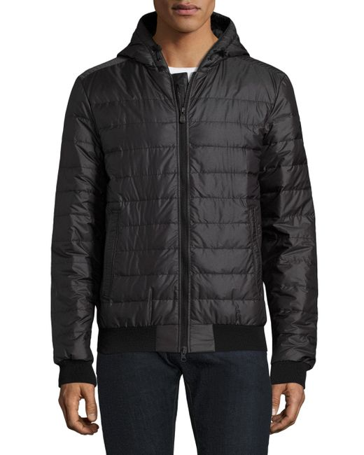 Canada Goose - Black Sydney Quilted Down-fill Hoodie for Men - Lyst