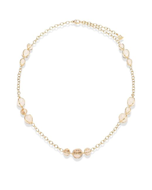 Temple St. Clair - Metallic Amulet Diamond, Rock Crystal & 18k Yellow Gold Station Necklace - Lyst