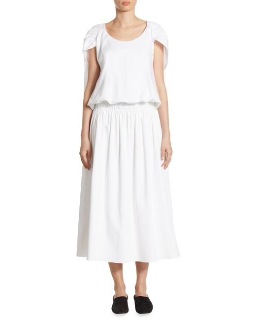 The Row - White April Cape Dress - Lyst