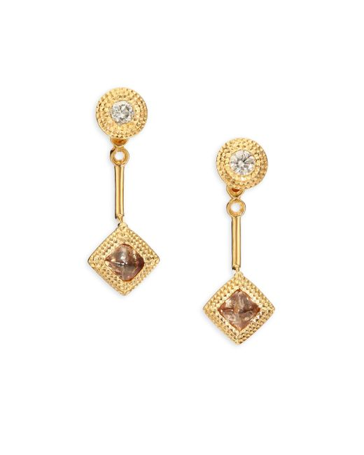 De Beers - Metallic Talisman Essence Diamond & 18k Yellow Gold Drop Earrings - Lyst