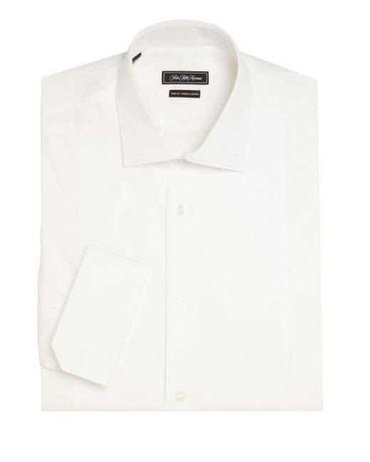 Saks Fifth Avenue - White Trim Fit Dress Shirt for Men - Lyst