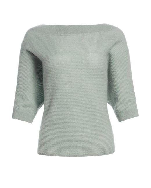 005ac2da95 Saks Fifth Avenue - Green Women s Link Stitch Boatneck Cashmere Sweater -  Deep Marigold - Size