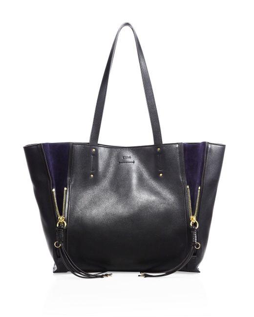 Chloé - Black Milo Leather & Suede Tote - Lyst