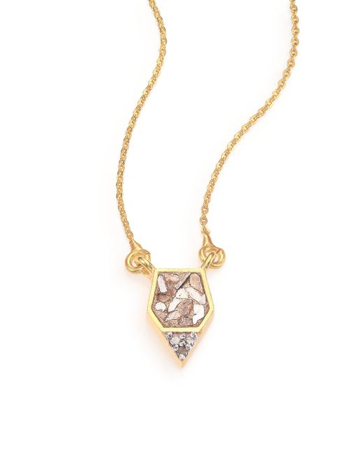 Shana Gulati - Metallic Charushila Bijou Champagne Diamond Pendant Necklace - Lyst