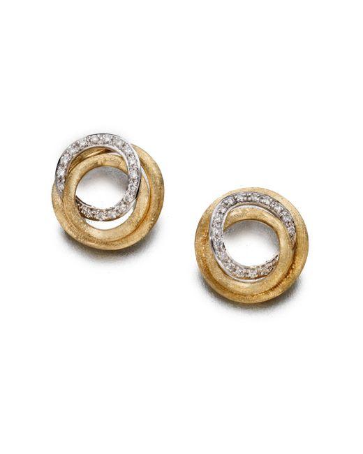 Marco Bicego - Metallic Jaipur Link Diamond & 18k Yellow Gold Stud Earrings - Lyst