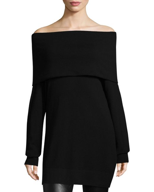 Lafayette 148 New York - Black Convertible Off-the-shoulder Sweater - Lyst