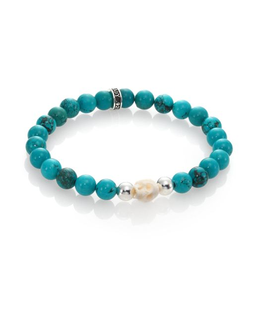 King Baby Studio - Blue Turquoise Bead Bracelet - Lyst
