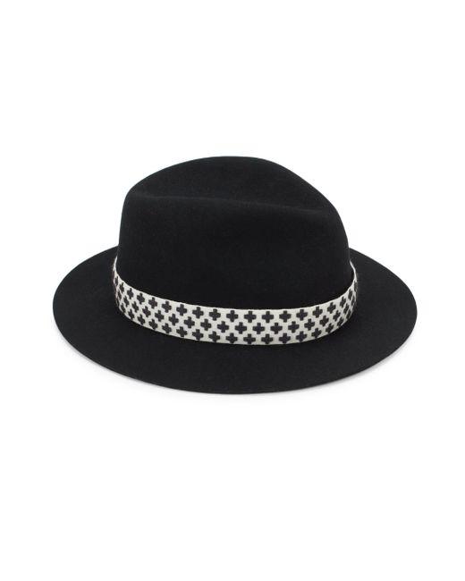 Rag & Bone - Black Abbott Wool Fedora - Lyst