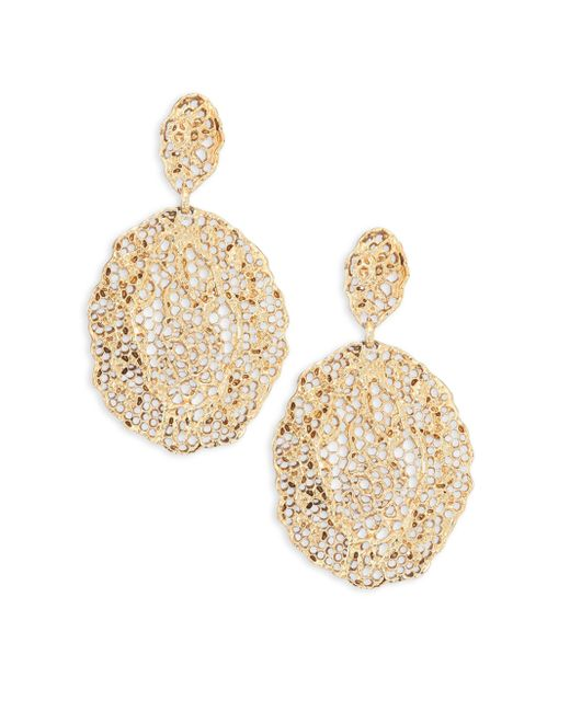 Aurelie Bidermann | Metallic Vintage Lace Drop Earrings | Lyst