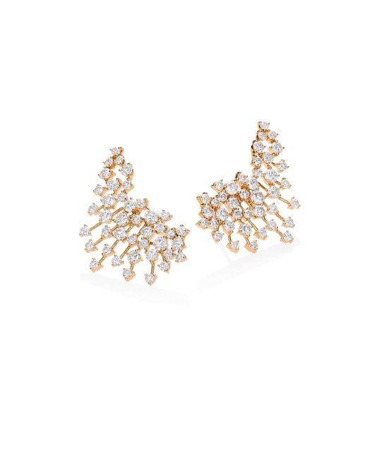Hueb | Metallic Luminus Diamond & 18k Yellow Gold Ear Cuffs | Lyst