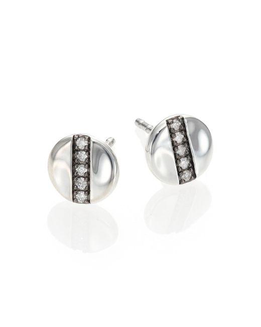 Ippolita - Metallic Glamazon Stardust Diamond & Sterling Silver Mini Disc Stud Earrings - Lyst