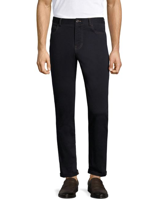 Michael Bastian | Blue Stretch Sateen Pants for Men | Lyst