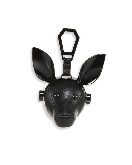 Kendall + Kylie - Black Blu Leather Dog Bag Charm - Lyst