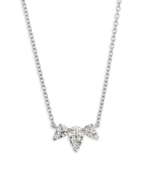 Hearts On Fire - Metallic Aerial Triple Diamond Necklace - Lyst