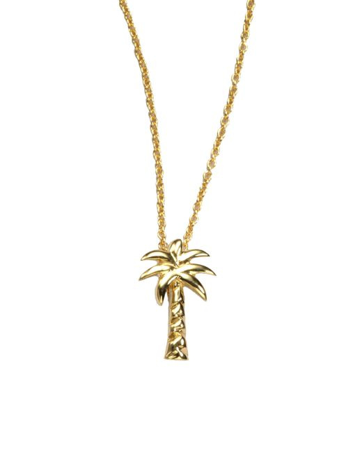 Roberto Coin | Metallic Tiny Treasures 18k Yellow Gold Palm Tree Pendant Necklace | Lyst