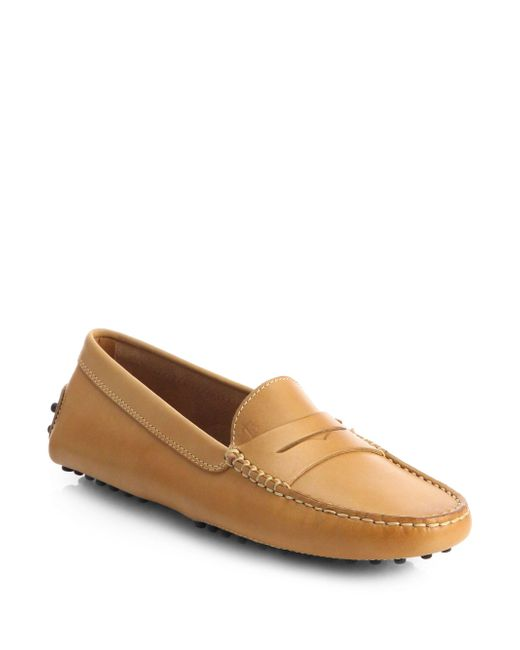 Tod's   Brown Gommini Leather Drivers   Lyst