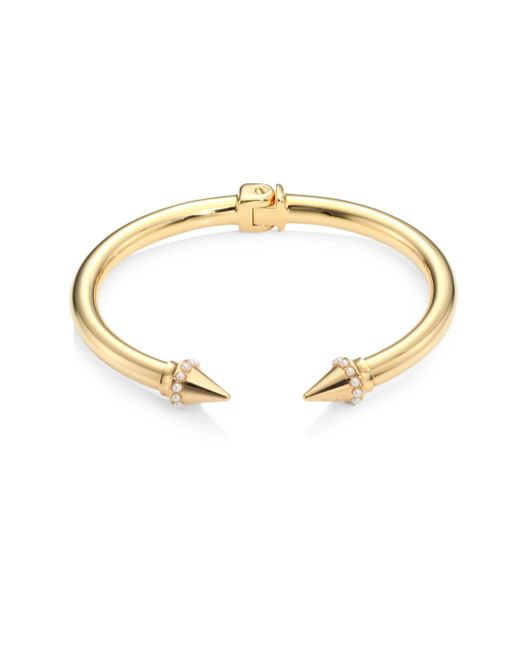 Vita Fede - Metallic Mini Titan Swarovski Pearl Bracelet - Lyst