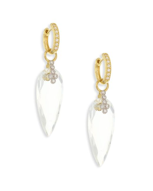 Jude Frances | Multicolor Provence Champagne Diamond & White Topaz Teardrop Earring Charms | Lyst