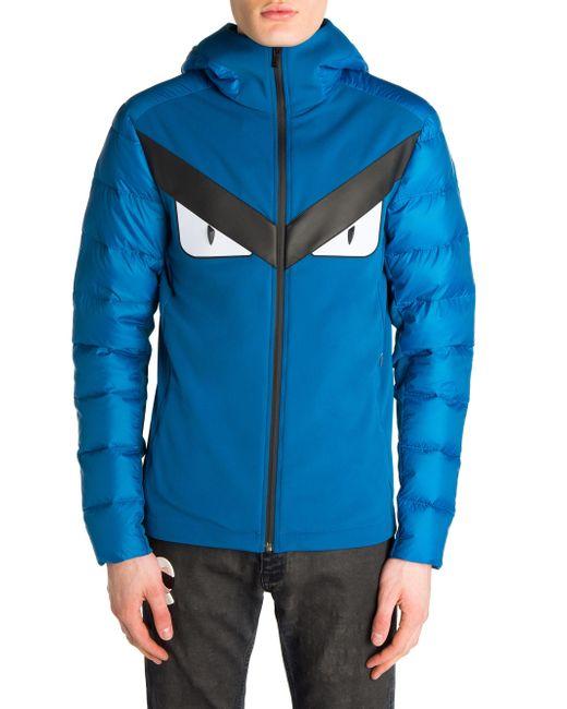 Lyst Fendi Techno Puffer Jacket In Blue For Men