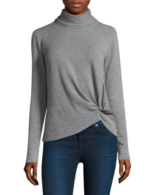 Stateside - Gray Twist Turtleneck Pullover - Lyst