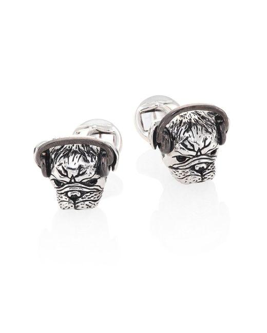 Saks Fifth Avenue | Metallic Headphones Plugged Pug Cuff Links for Men | Lyst