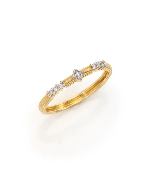 Jude Frances | Metallic Lisse Diamond & 18k Yellow Gold Ring | Lyst