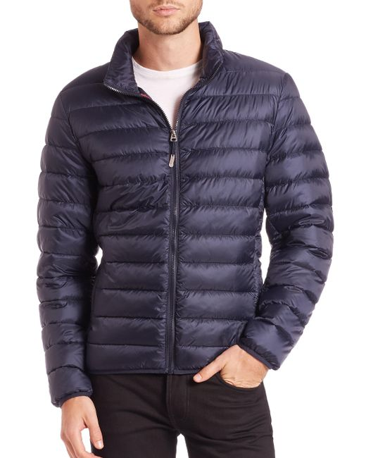 Tumi - Blue Convertible Puffer Jacket for Men - Lyst