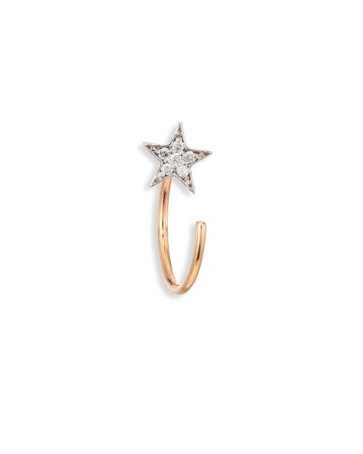 Kismet by Milka - Metallic Star Diamond & 14k Rose Gold Single Reverse Hook Single Earring - Lyst