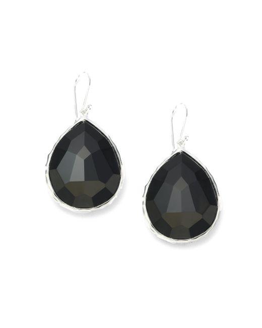 Ippolita - Metallic Rock Candy Black Onyx & Sterling Silver Large Teardrop Earrings - Lyst