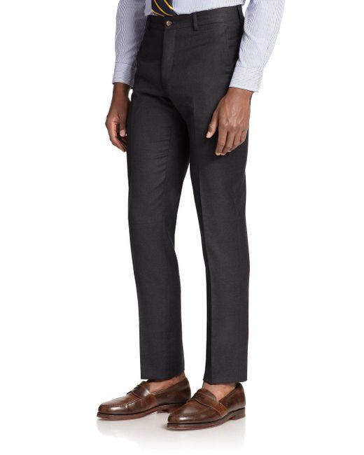 Polo Ralph Lauren - Gray Wool Twill Trousers for Men - Lyst
