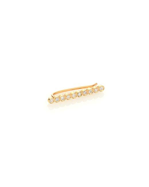 Zoe Chicco - Metallic Diamond & 14k Yellow Gold Single Ear Cuff - Lyst