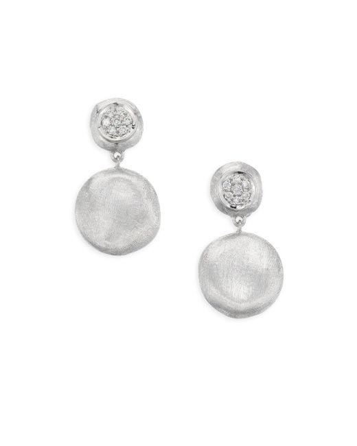 Marco Bicego - Metallic Jaipur White Gold Drop Earrings With Diamonds - Lyst