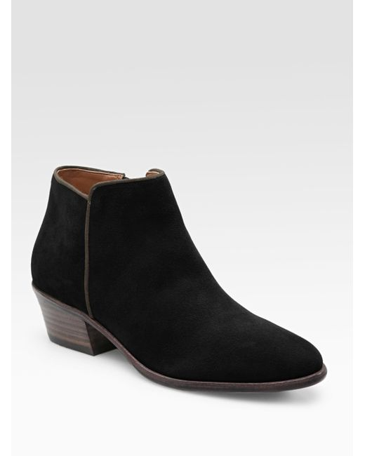 Sam Edelman - Natural Petty Lowcut Suede Ankle Boots - Lyst