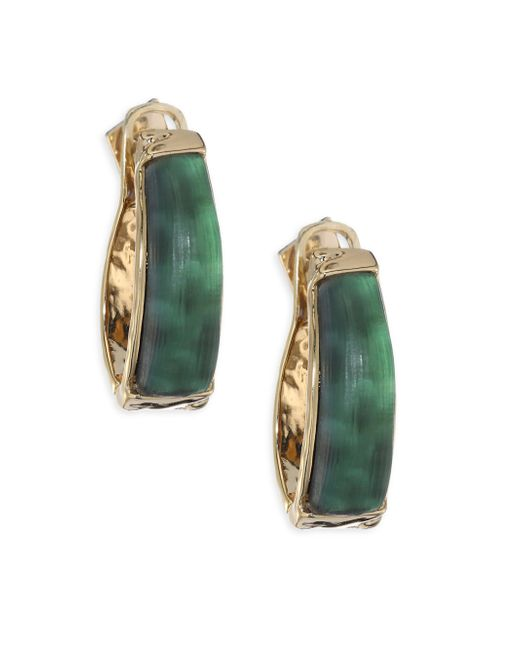 Alexis Bittar | Green Lucite Rocky Metal Hinge Earrings | Lyst
